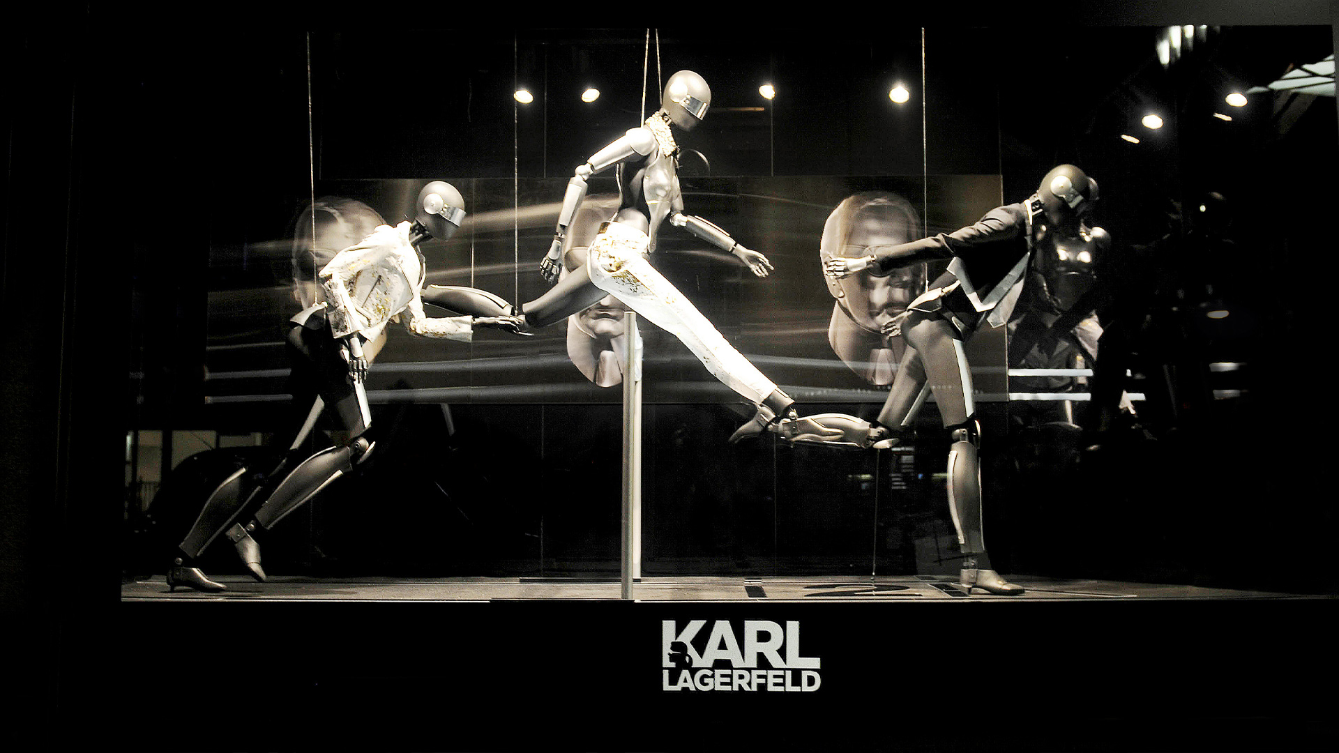 LIGANOVA | Karl Lagerfeld | POS Campaign – Special Window & Instore Installation