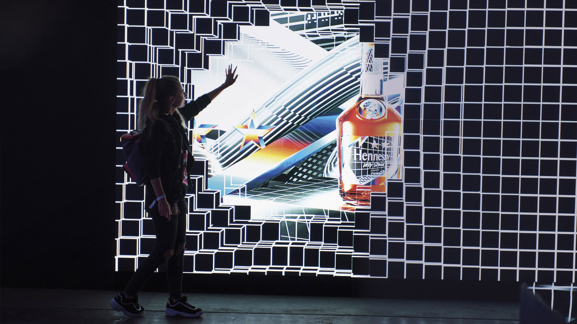 LIGANOVA | Brand Experience | Remixing The Present | Digital Wall